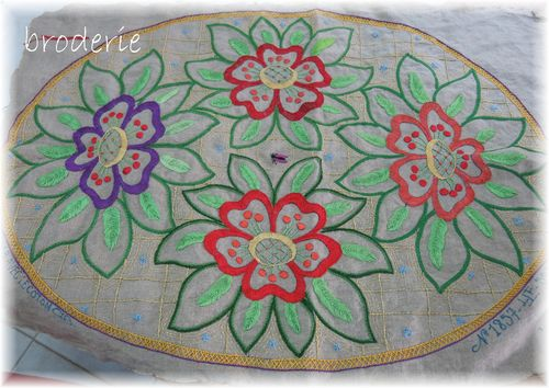 Fabric and stitching 042