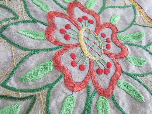 Fabric and stitching 049
